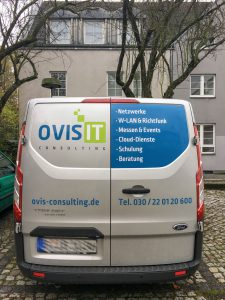 Fahrzeugbeschriftung OVIS IT Consulting