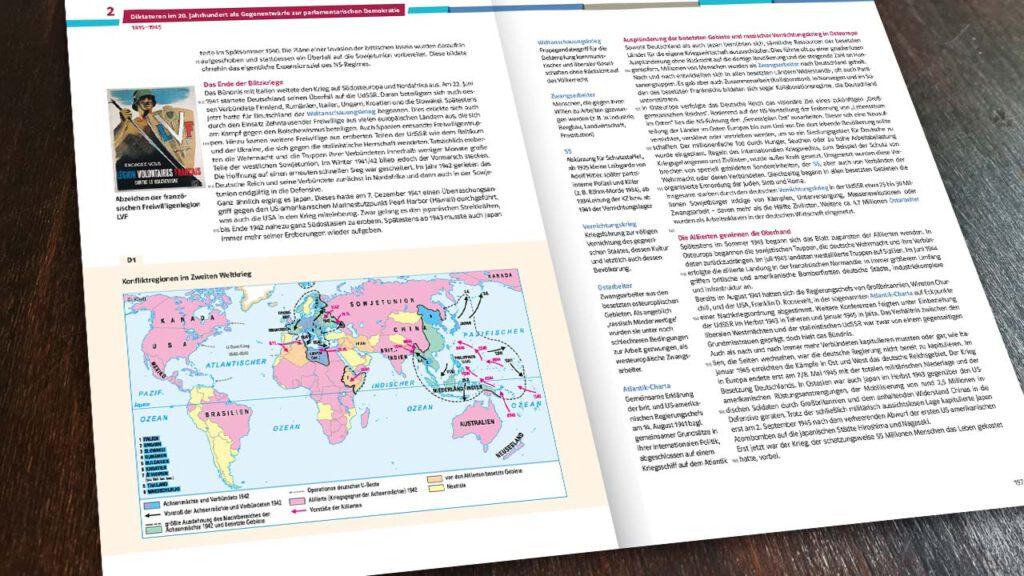Schulbuchkarte Ernst-Klett-Verlag