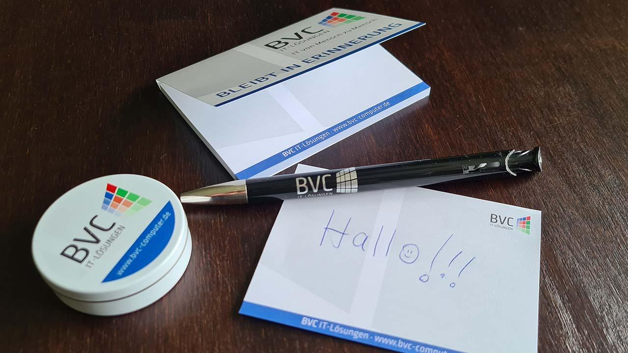 Werbeartikel für BVC IT-Lösungen