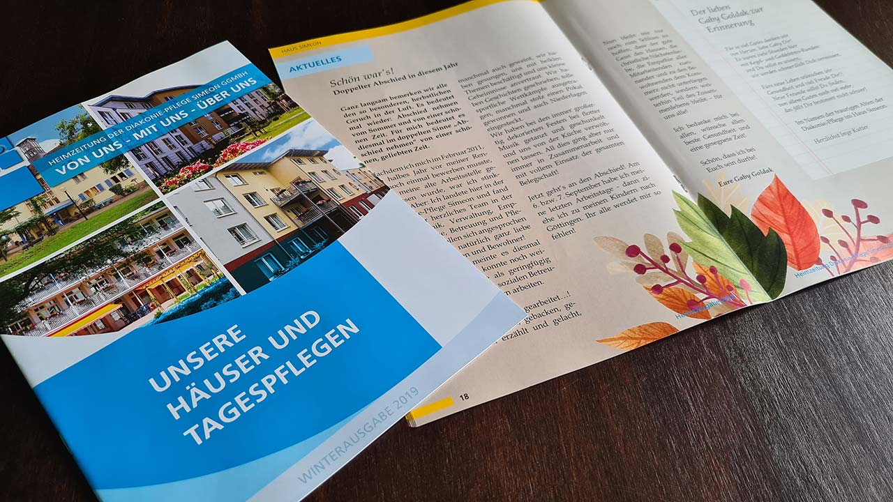 Heimzeitung der Diakonie-Pflege Simeon