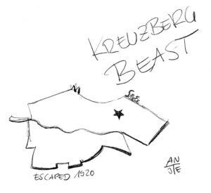 """Illustration """"Kreuzberg Beast"""""""