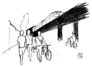 "Illustration ""Bierkasten-Ralley Kreuzberg"""
