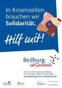 Bedburg Plakat: Demokratie leben