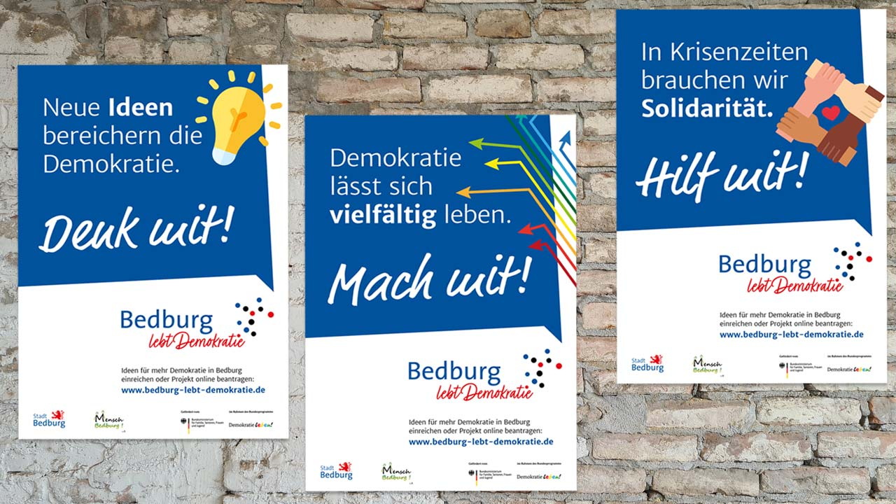 Bedburg Plakatkampagne: Demokratie leben