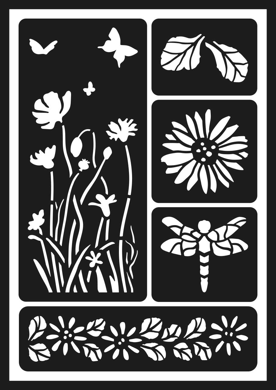 GONIS Flexschablone Wildblumen